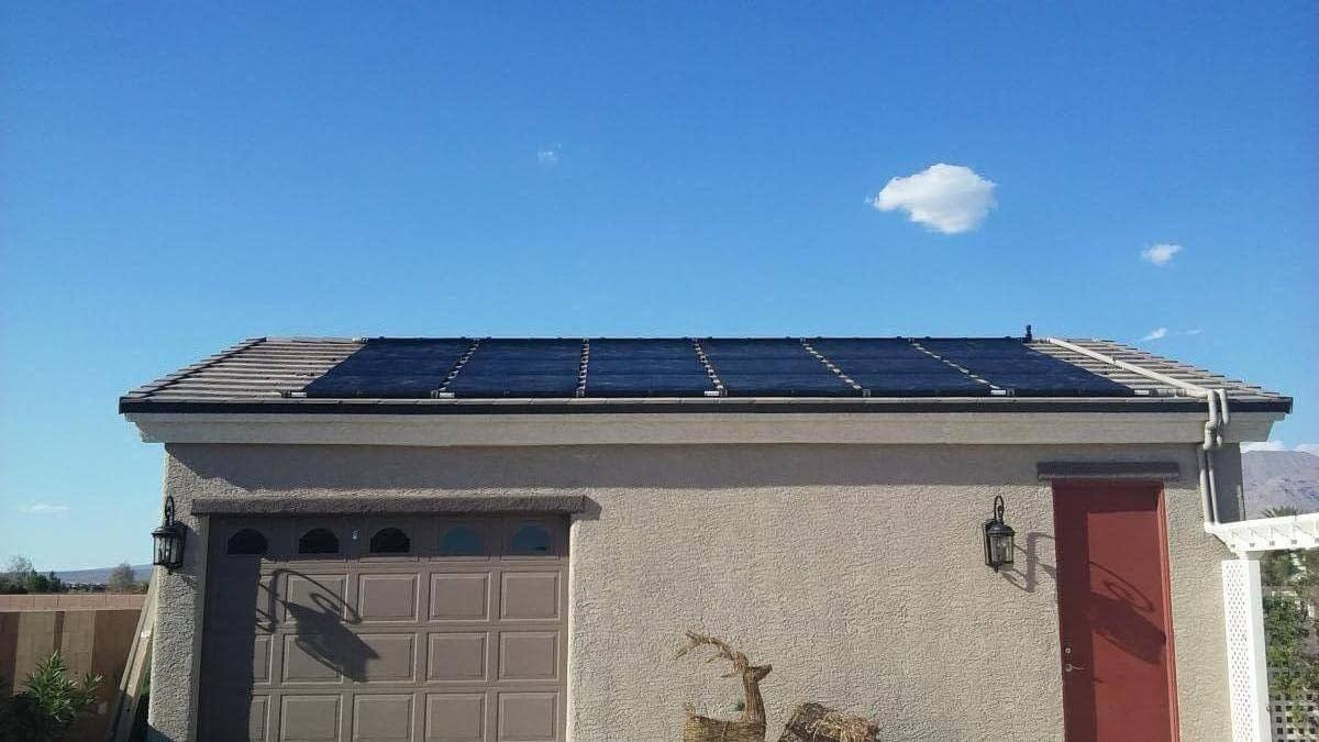 Solar Panel Above Garage